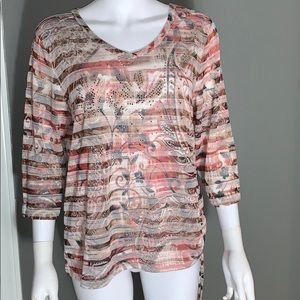 ONQUE Casuals Womans Quarter Sleeve Top SZ.XL
